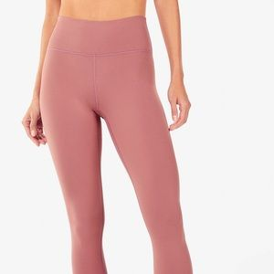 Fabletics High Waisted PowerHold 7/8 Leggings Pink